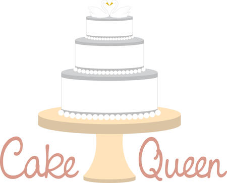 topper: Celebrate your wedding with this cake design.