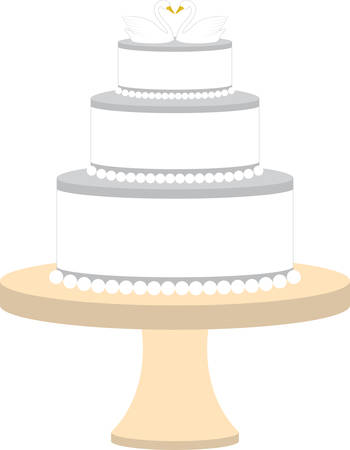 Feiern Sie Ihre Hochzeit mit diesem Kuchenentwurf. Standard-Bild - 41243431