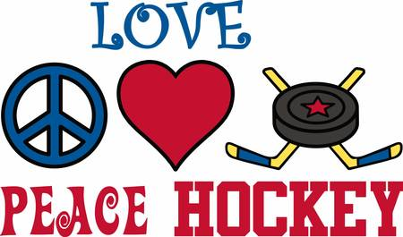 hockey players: Hockey players will love a great puck design.