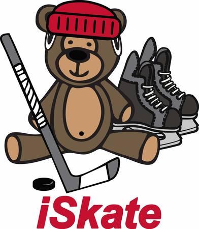 Hockey players can play a game with their teddy bear.