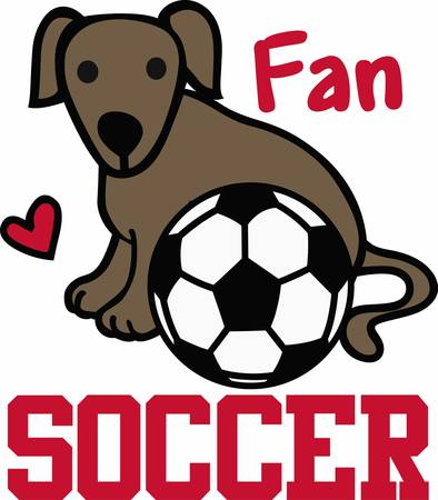 Soccer players will love a nice sporting dog.