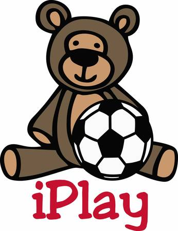 soccer players: Soccer players will love a nice sporting teddy. Illustration