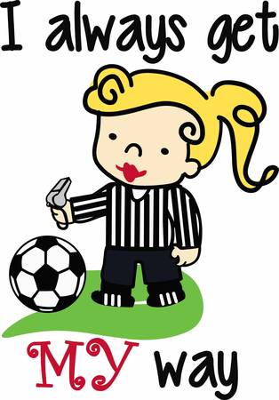 Soccer players will love good game referee.