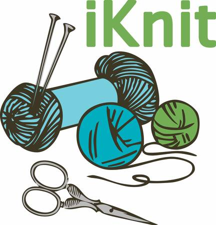 yarns: Knitting is a wonderful hobby.  Add this image to your next design.