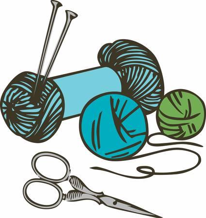 뜨개질은 훌륭한 취미입니다. 이 이미지를 다음 디자인에 추가하십시오.