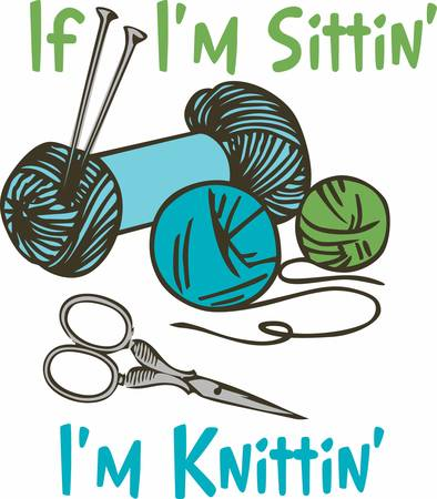 Knitting is a wonderful hobby.  Add this image to your next design. Stok Fotoğraf - 41243639