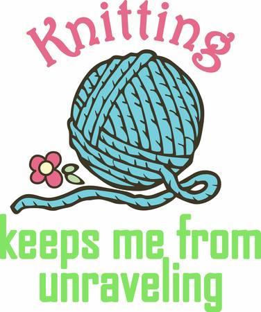 뜨개질 멋진 취미입니다. 다음 디자인이 이미지를 추가합니다.