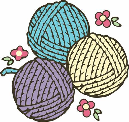 Knitting is a wonderful hobby.  Add this image to your next design.