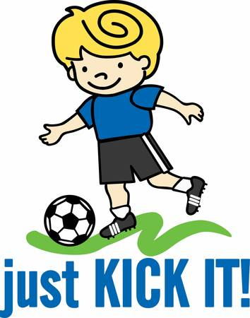 Enjoy a great soccer game with a cute player on the field.