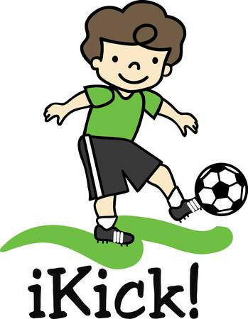 Enjoy a great soccer game with a cute player on the field. Stok Fotoğraf - 41243668