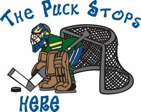 goalie: Hockey lovers will like a great goalie.