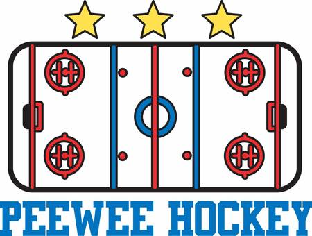 Hockey players love to play on a nice ice rink. Illustration