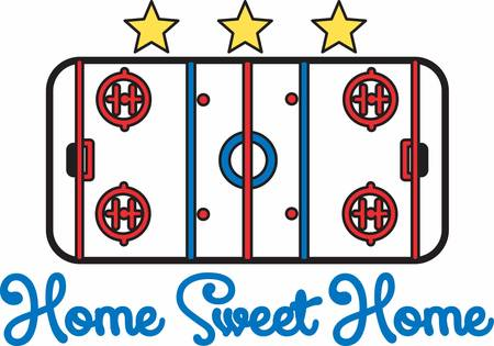 rink: Hockey players love to play on a nice ice rink. Illustration