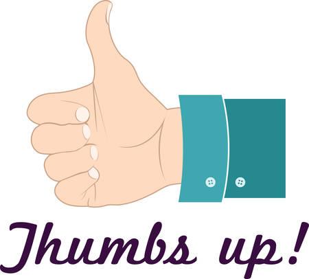 Thumbs up als alles gaat geweldig.