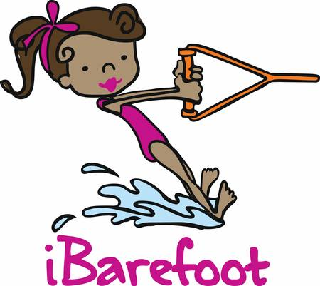 thrilling: Barefoot ski is a thrilling water game pick these designs from concord collections