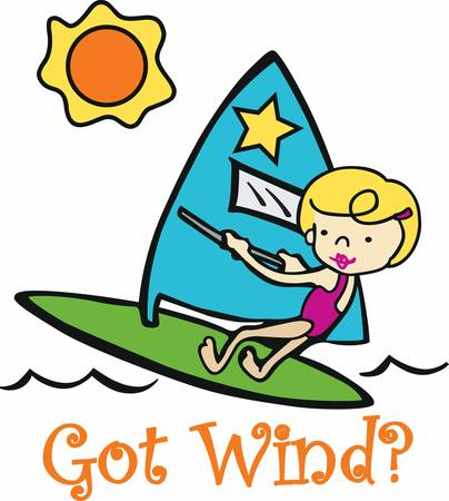 wind surfing: Wind surfing is great adventure sport pick these designs from Concord collections. Illustration