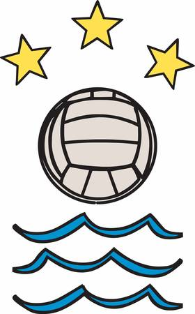 Beach Volleyball is an iconic game enjoy with designs from Concord collections Ilustração
