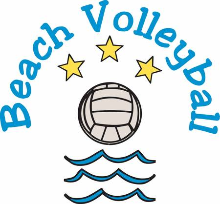 Beach Volleyball is an iconic game enjoy with designs from Concord collections 矢量图像