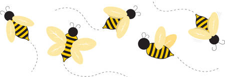 Life is full of beauty notice the bumblebee work hard stay bumble Illustration
