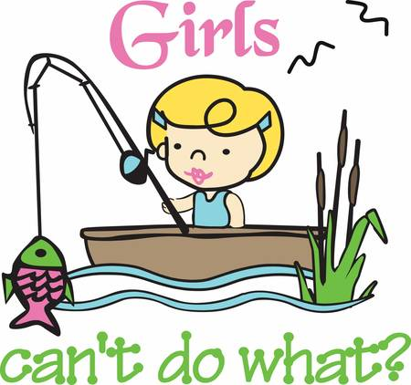 Pick these fishing girl designs from concord collections