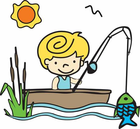 Get these fishing boy designs from concord collections