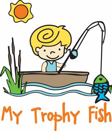 Get these fishing boy designs from concord collection