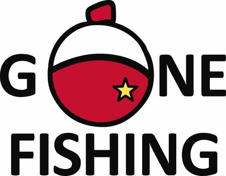 Fishing buoy lets us know the position of trout pick these designs from concord collections 向量圖像