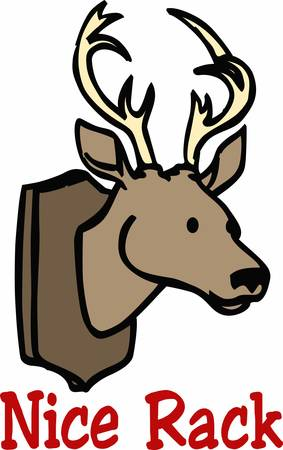 decal: Deer mount is an antique wall decal cull these designs from concord collections Illustration