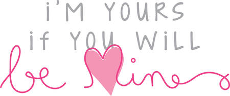 Be Mine saying with heart for your Valentine projects
