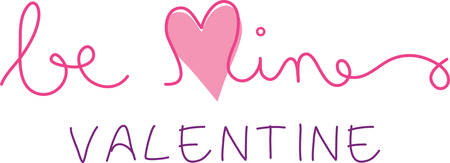 be mine: Be Mine saying with heart for your Valentine projects