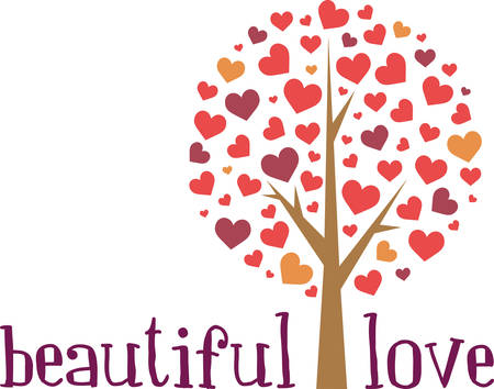 Lovely Heart tree for your Valentine projects. Banco de Imagens - 41349928