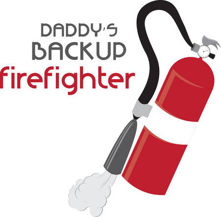 Red fire extinguisher for parents and home safety.