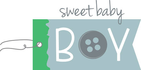 hangers: A cute label design for the baby shower.