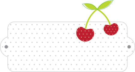 February National Cherry Month label for cooking with cherries or kitchen designs. Ilustração