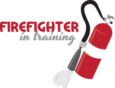 Red fire extinguisher for firefighters and home safety.