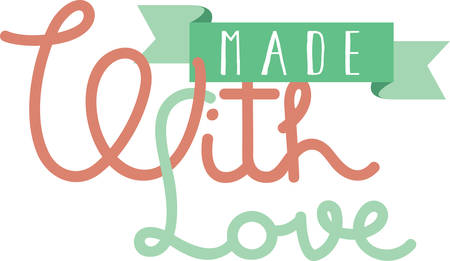 those: Crafters label for projets made for those we love. Illustration