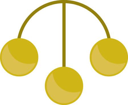 전당포 돈 브로커 및 딜러에 대한 세 금 동전 기호입니다.