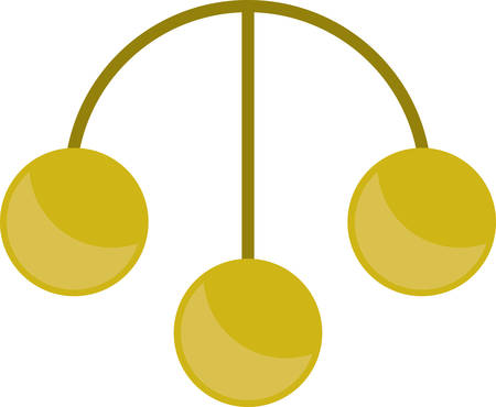 pawn shop: Three gold coin symbol for pawnshops money brokers and merchants.