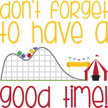 big top: Rollar coaster amusement park ride with striped big top tent.