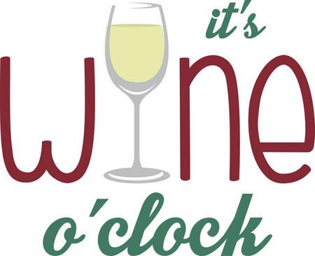 blanc: Redacci�n Vino con un vaso de vino blanco para la barra o la cocina dise�os. Vectores