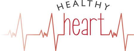 Heart beat graph for patients survivors and supporters. Ilustração