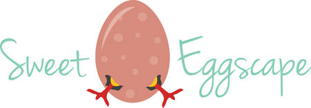 Use this chick egg for a fun Easter project. Ilustrace