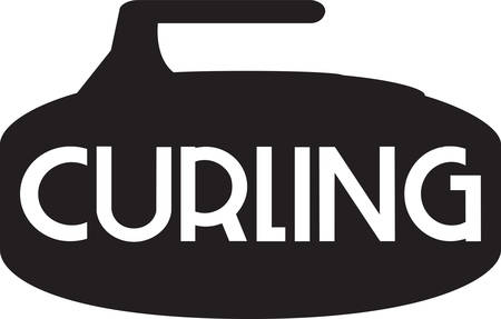 interesting: Curling is an interesting sports competition sport. Illustration
