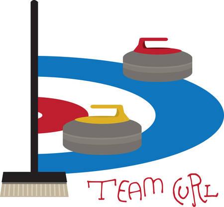 Curling is an interesting sports competition sport. Illusztráció