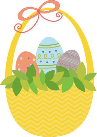 Gebruik dit ei mand voor een zoete Pasen project. Stockfoto - 41353198