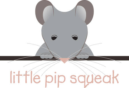 topper: Cute little mouse shirt pocket topper.