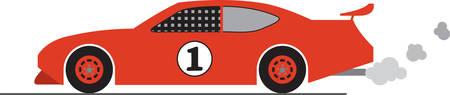 任意の熱心なレーサーはこのレースカーのデザインをお楽しみください。  イラスト・ベクター素材