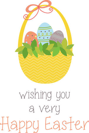 Gebruik dit ei mand voor een zoete Pasen project. Stockfoto - 41353206