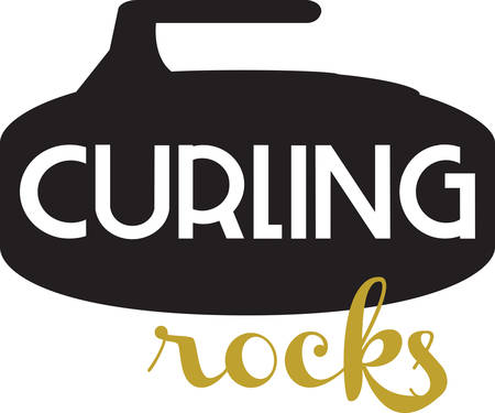 Curling is an interesting sports competition sport. Vettoriali