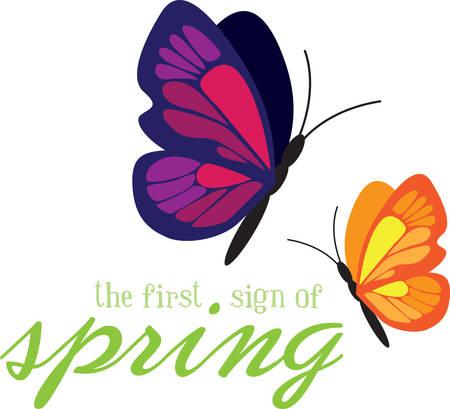 春蝶は、非常に美しいあなたの庭を作る。コンコードでそれらのデザインを選択します。  イラスト・ベクター素材